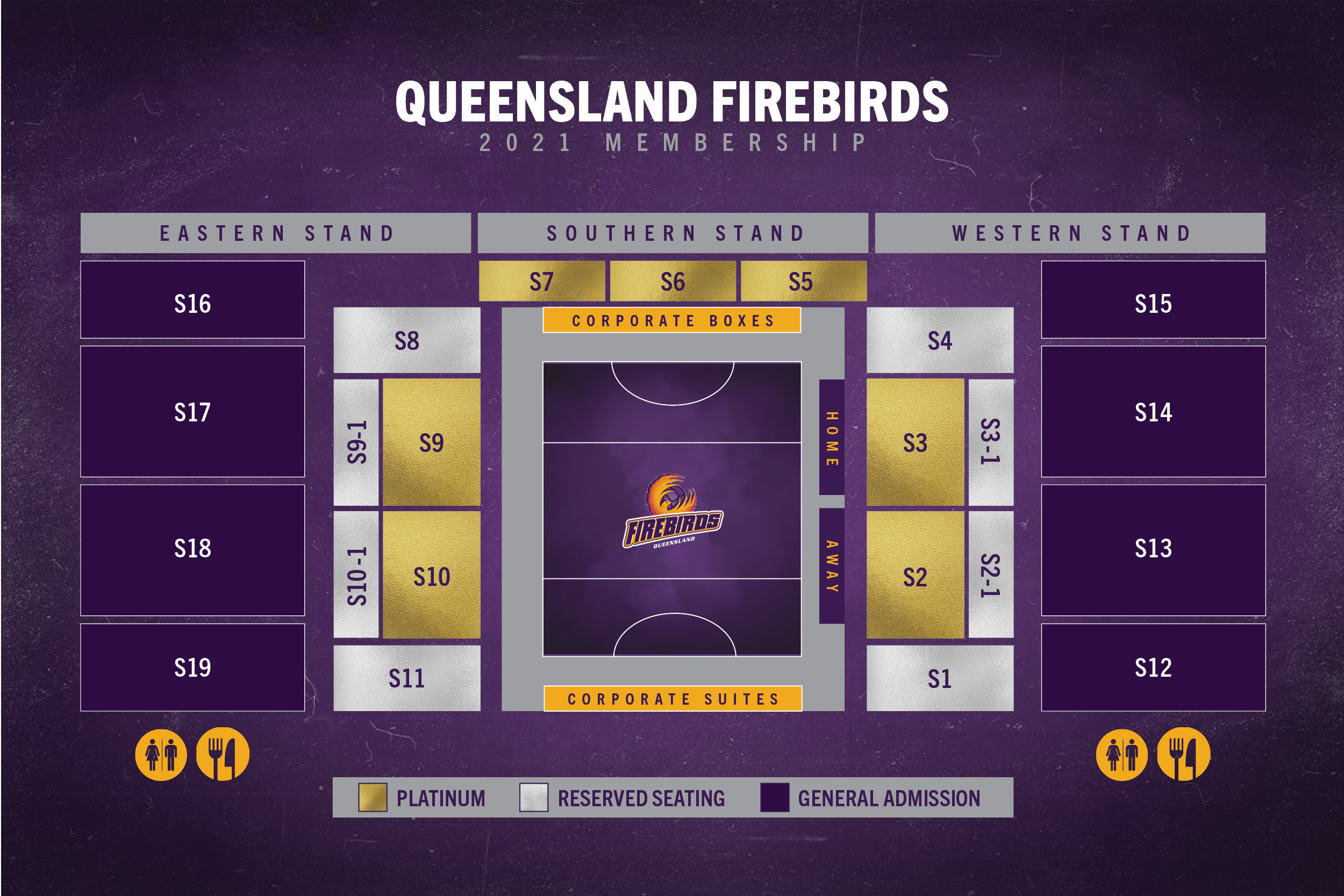 Firebirds 2021 Membership Venue Map